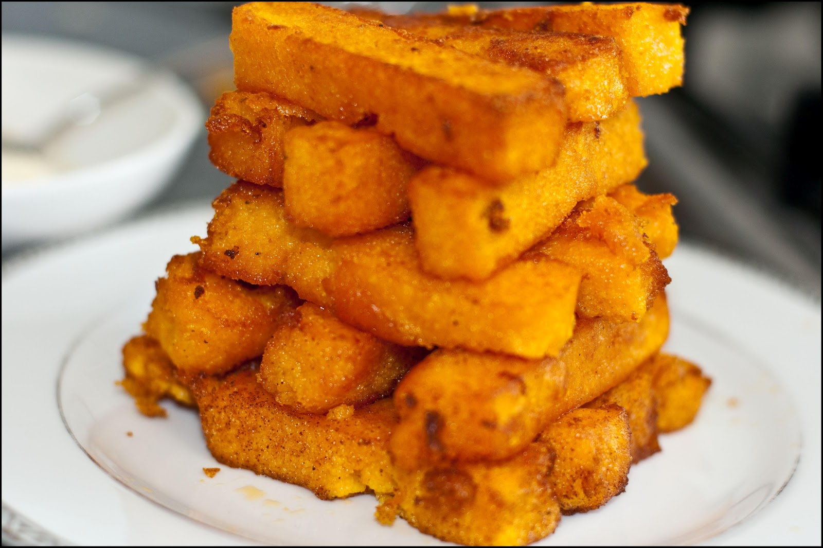Dinner at Maya's: Roasted Butternut Squash Polenta Chips