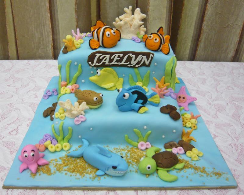 Jenn Cupcakes Muffins Finding Nemo Themed Cake