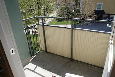Inreda liten balkong