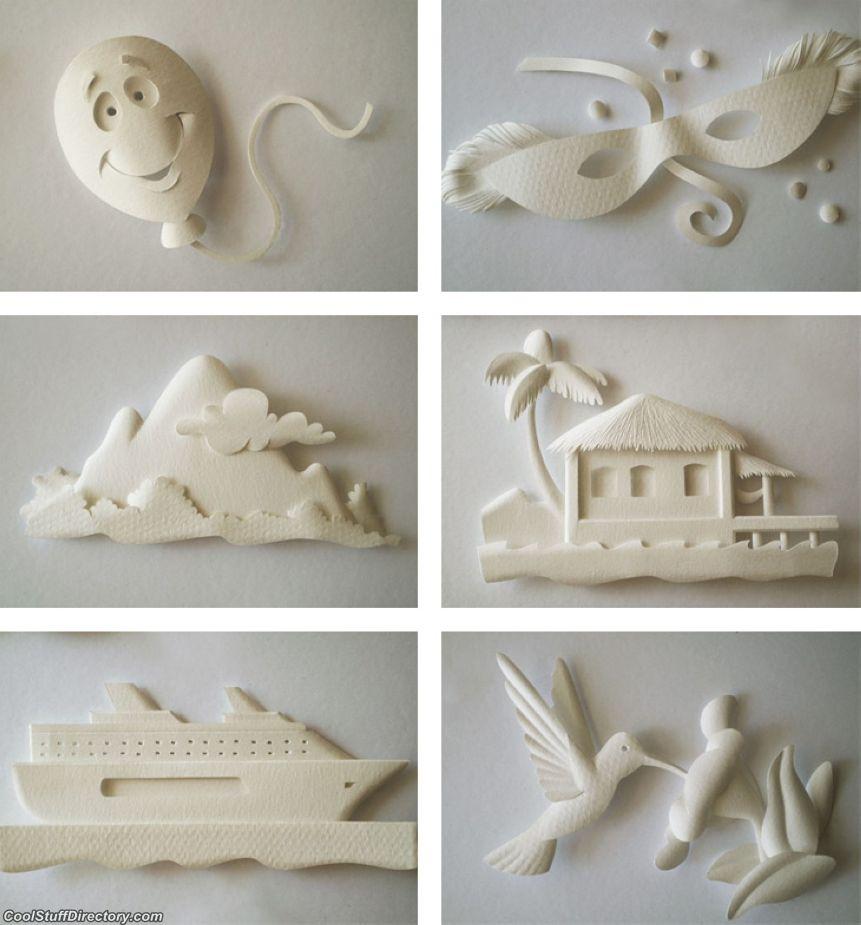 Объемная скульптура из бумаги своими руками