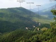El Cap de la Solana i la Vileta vistos des del mirador