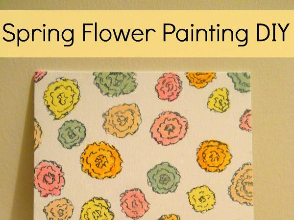 Spring Flower Painting DIY