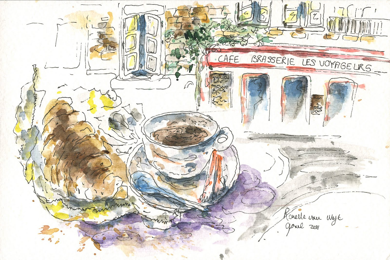 French Cafe Drawing You Can Imagine How Big my