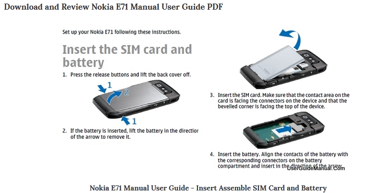 nokia e71 user manual review