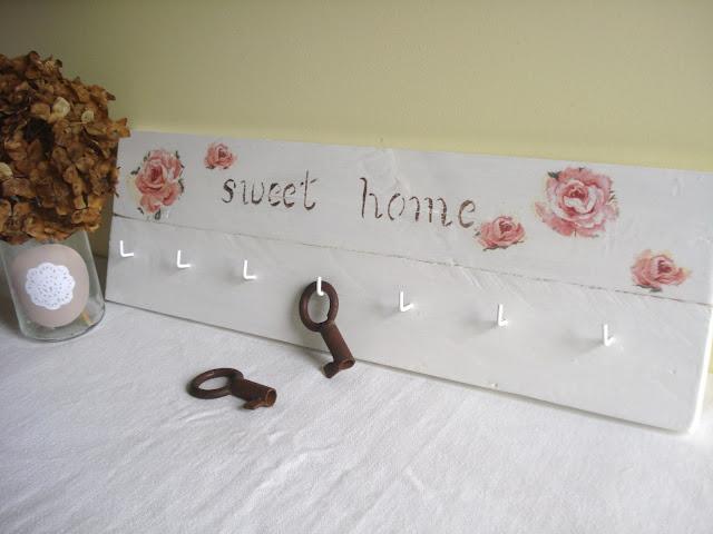 Xanela vintage cuelga llaves con unas tablas de palet - Para colgar llaves ...