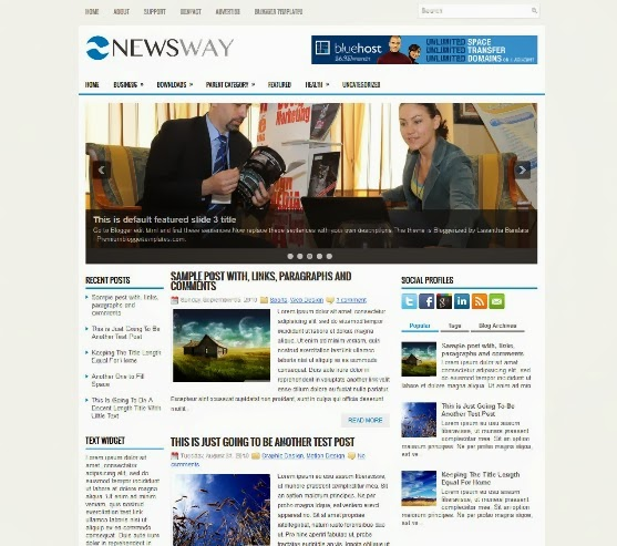 NewsWay Blogger Template