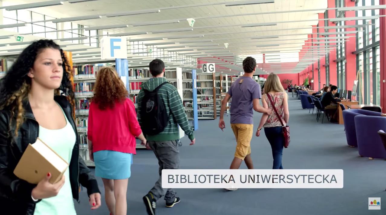 Biblioteka UKW w filmiku promującym Bydgoszcz :)