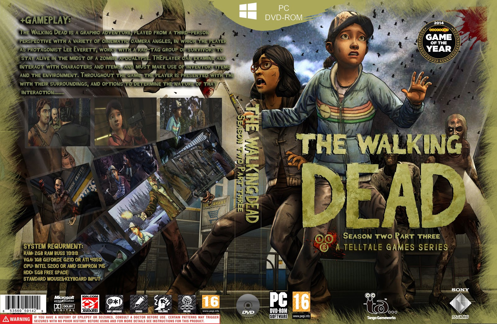 Capa The Walking Dead Season Two Part Three PC