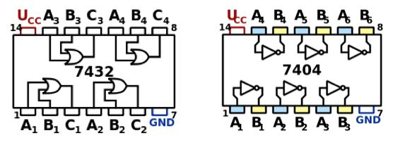 Circuito Integrado 7404 : Diseño de un quot robot seguidor líneas utilizando