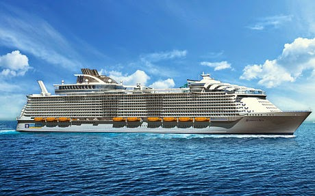 Royal Caribbean's Harmony of the Seas cruise ship will weigh 227,000 gross tons - 1,718 more than the current record-holder
