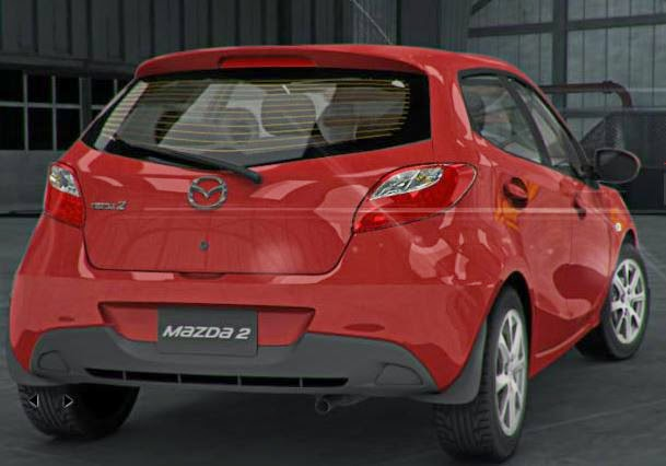 mazda 2 en color rojo