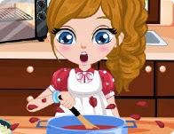 لعبة الطفل في حوادث الطبخ