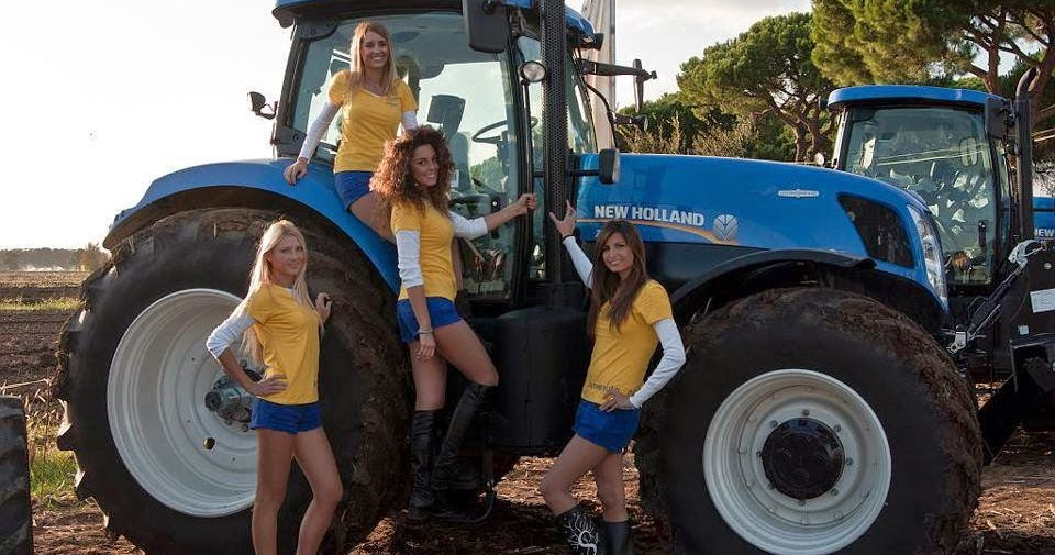 tractors and girl nu holland