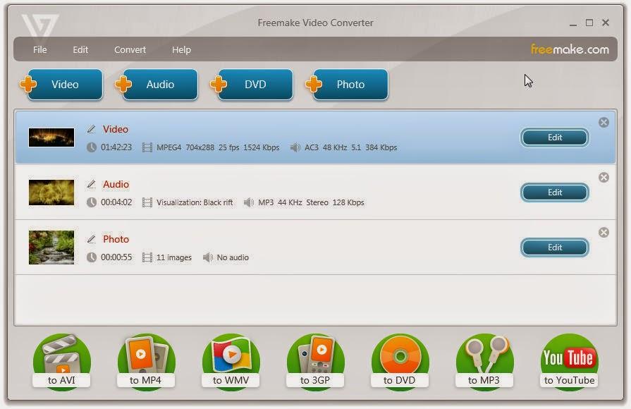 إصدار جديد من برنامج تحويل جميع صيغ الوسائط Freemake Video Converter 4.1.6.3