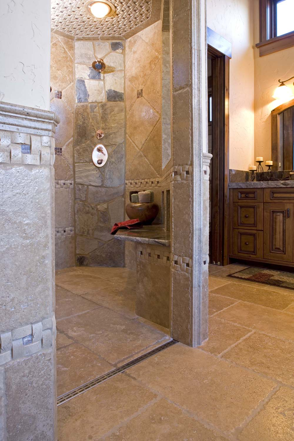 barrier free showers at nelson tile and stone