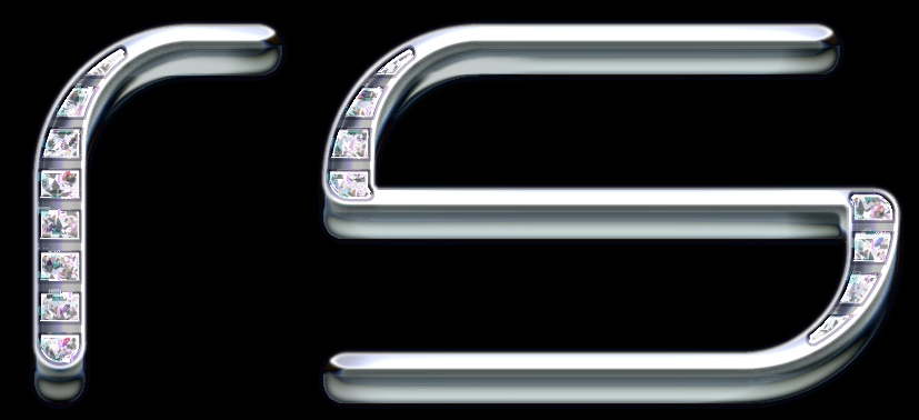 Dax Riders : typo chrome mat sertie de diamants by Velop