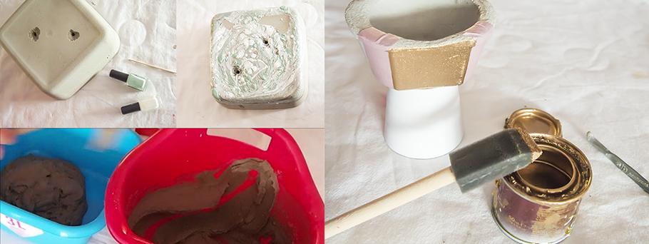 Diy, cómo hacer macetas de cemento