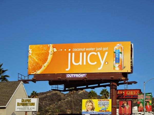 Coconut Water just got juicy Zico billboard