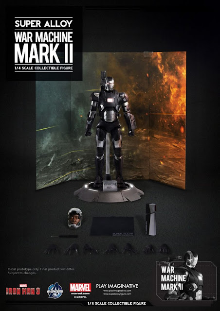 Play Imaginative 1/4 Scale Super Alloy Iron Man 3 War Machine Mark II Figure