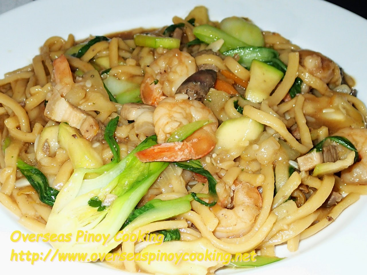 Pansit Miki with Upo