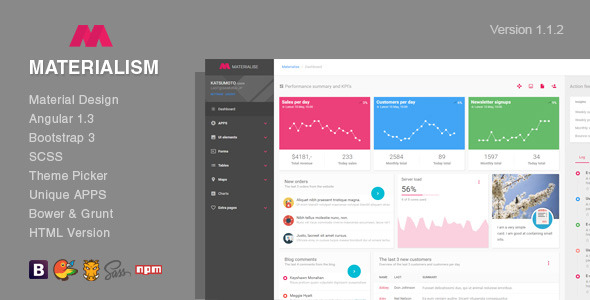 download Materialism - Angular Bootstrap Admin Template
