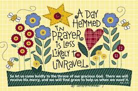 Hemmed in prayer
