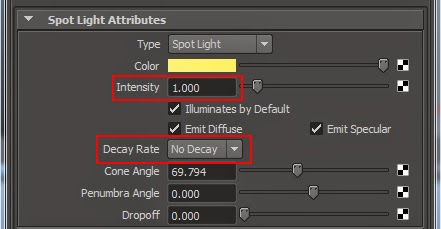 Understand Light Attribute Manipulating in Maya 03