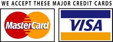 Cartões de crédito e débito aceitos