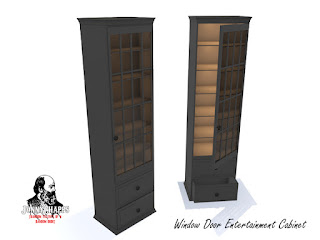 window door entertainment cabinet