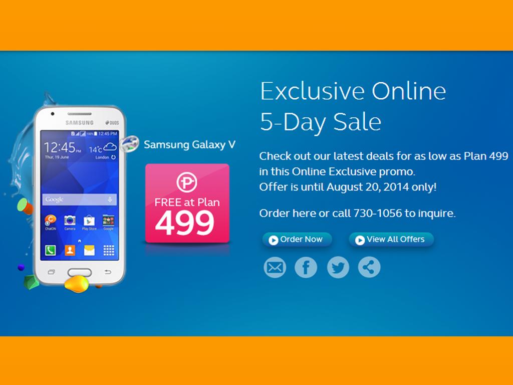 Globe's 5-day Online Gadget Sale