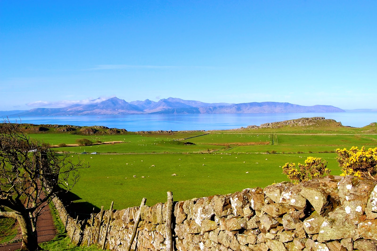 View from the ruins of St. Blane's Church on the Isle of Bute