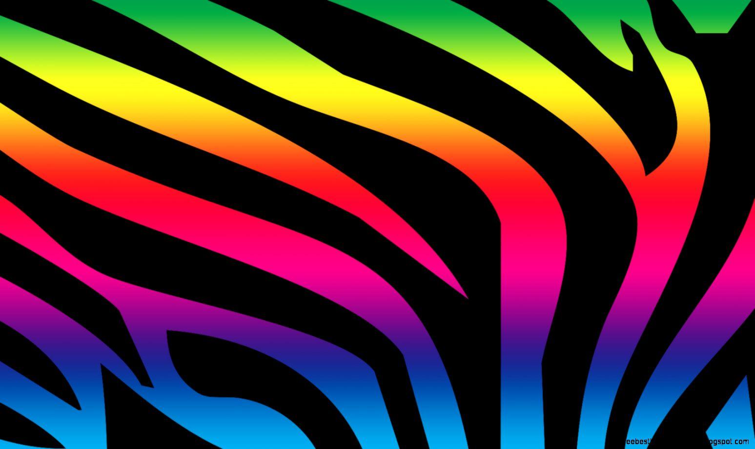Zebra rainbow print wallpaper free best hd wallpapers for Zebra print wallpaper