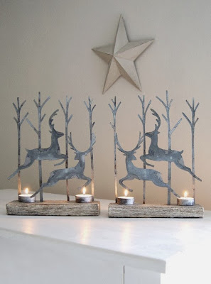Leaping Reindeer Tealight Holders