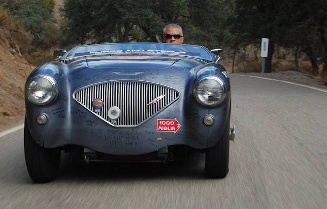 Drive Away Cancer Now 1953 Austin-Healey 100