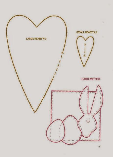 Moldes para fazer sachês de coração