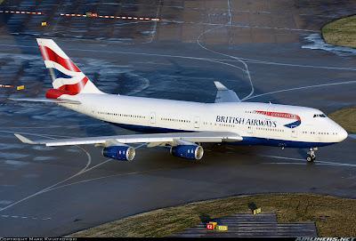 Simulando o voo BA0247: de Heathrow a Guarulhos no Boeing 747  G-CIVW+at+LHR