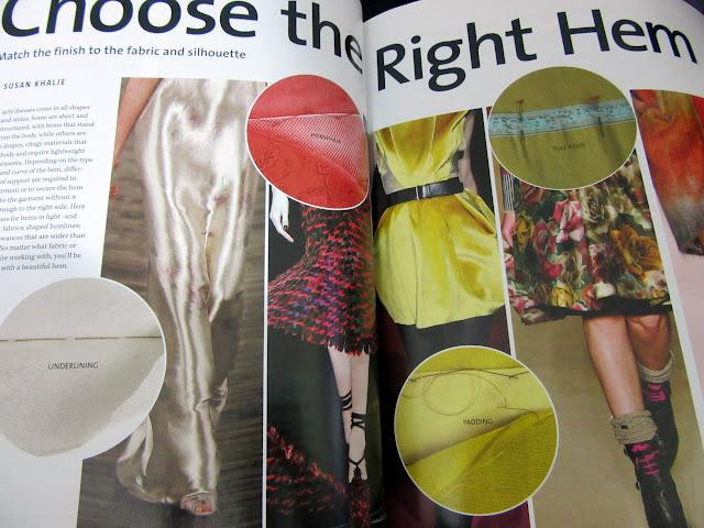 Revista con consejos de costura secretos para un dobladillo perfecto