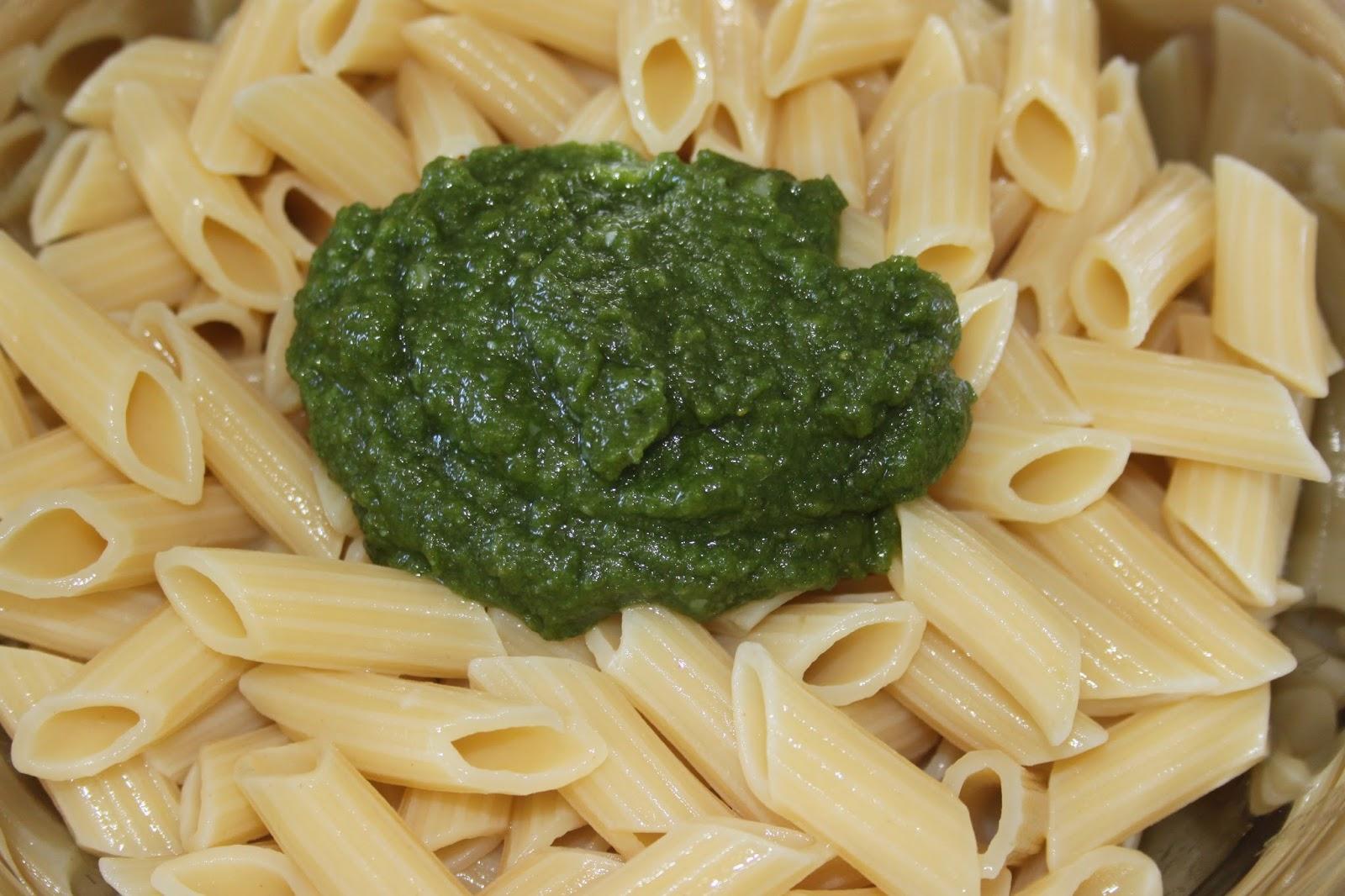La Cuisine de Bernard : Pâtes au Pesto et Tomates séchées (chaudes ... - Salade Pates Pesto