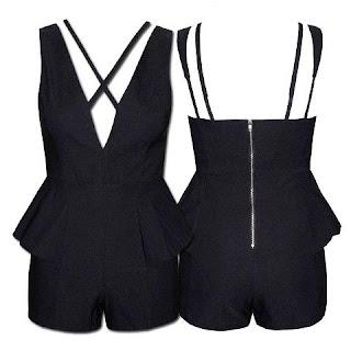 Little Party Dress Store Bring It Black Playsuit