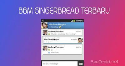 Update BBM Untuk Gingerbread Terbaru