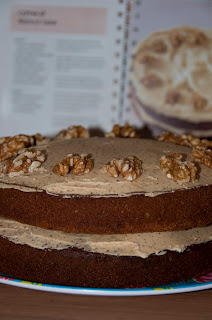iced Coffee and walnut cake