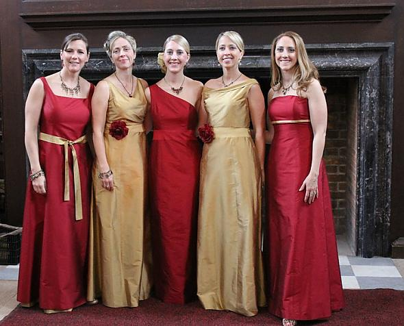 Red And Gold Dresses For Wedding