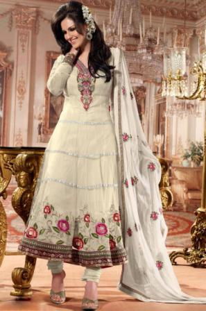 Cream-Designer-Anarkali-Suit
