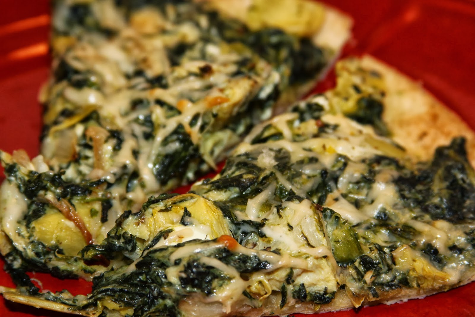 For the Love of Food: Meatless Monday: Cheesy Spinach Artichoke Pizza