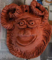 "CLAY MASK , from my Saturday children's art classes at Wedgewood Montessori, ""Clay Creations,"""