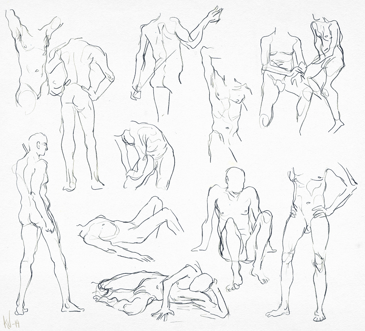 #croquis #male #drawing #sketch #figure #study