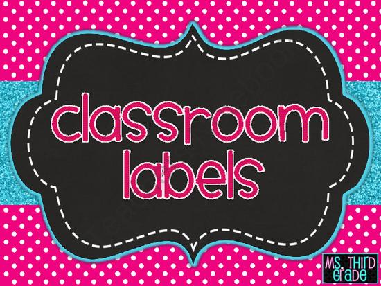 Ms third grade classroom labels freebie for Room labels