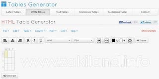 Créer rapidement et facilement des tableaux en HTML - Tables Generator