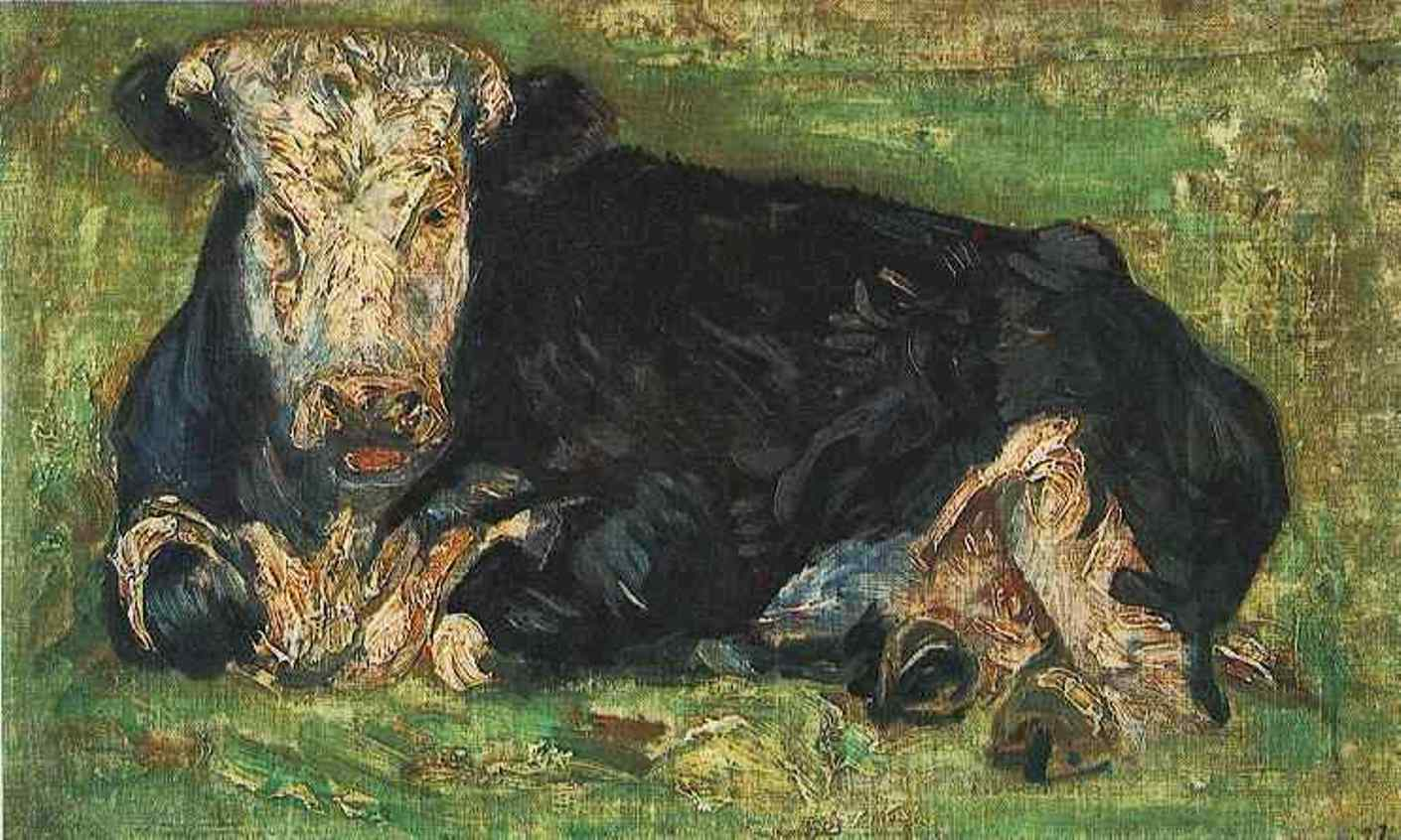 Lying Cow F 0001b JH 0388 by Vincent van Gogh