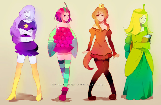 adventure time princesses por chu00master